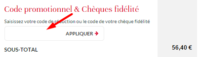 ajouter un code promo beauty success