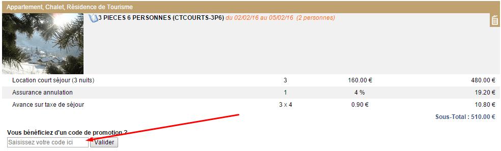 code promo chatel reservation en ligne