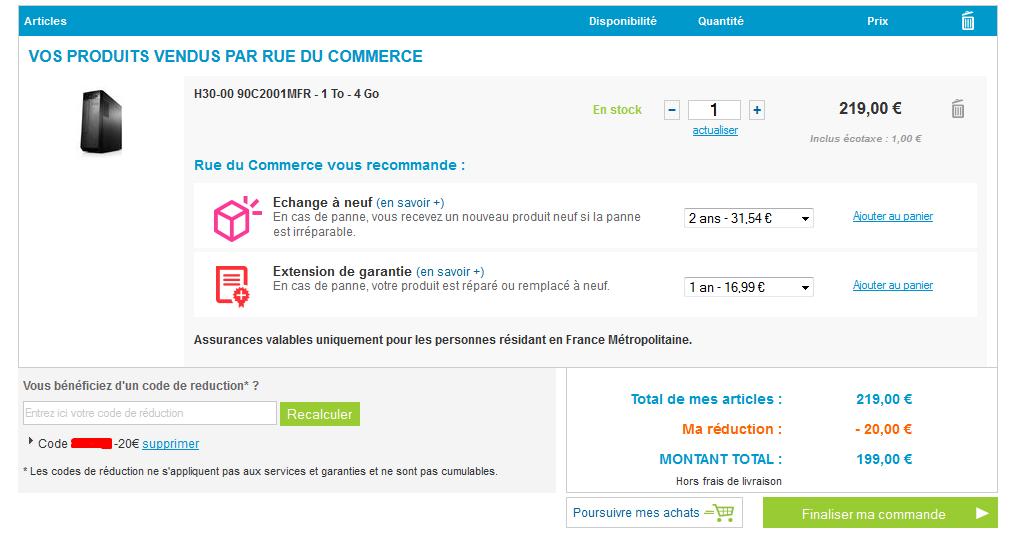 Code promo rue du commerce - Reduction rue du commerce frais de port gratuit ...
