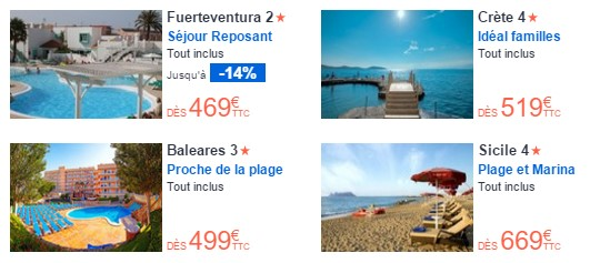 promotions promovacances