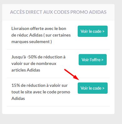 voir le code promo adidas